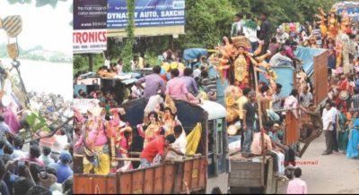कलकत्ता हाईकोर्ट : अलग-अलग रूट पर निकले दुर्गा प्रतिमा और ताजिया