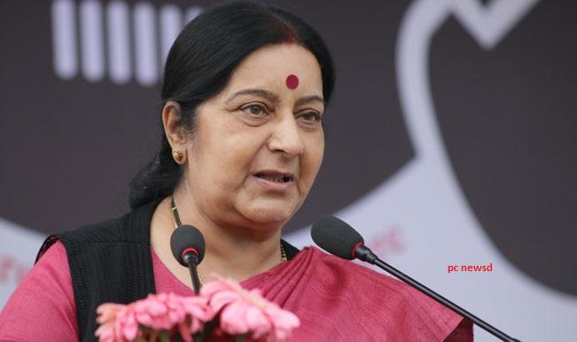 सुषमा स्वराज ने की श्रीलंका के विदेश मंत्री से मुलाकात